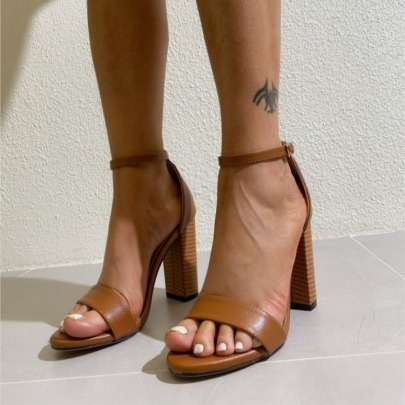 Women's Open Toe Thick High Heel Sandals Nihaostyles Clothing Wholesale NSCA77719