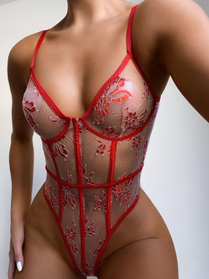 Women's Embroidery Perspective One-piece Nihaostyles Wholesale Clothing NSRBL77779