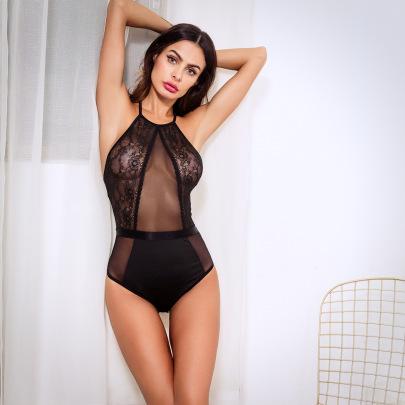 Women's Hollow Lingerie One-piece Jumpsuit Nihaostyles Wholesale Clothing NSRBL77784