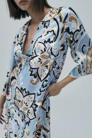 Women's Print Bouquet Coat Dress Nihaostyles Clothing Wholesale NSAM77800