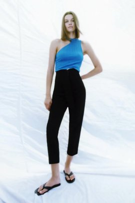 Women's Straight Leg High Waist Casual Trousers Nihaostyles Clothing Wholesale NSAM77802