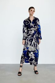Women's Printed Thin A-line Shirt Dress Nihaostyles Clothing Wholesale NSAM77812
