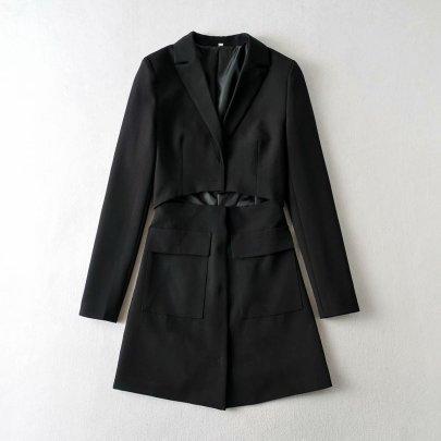 Women's Slim Long Blazer Nihaostyles Clothing Wholesale NSAM77823
