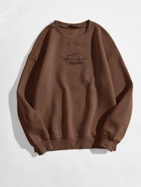 Women's Cute Cat Letter Pattern Printing Round Neck Long-sleeved Sweatshirt Nihaostyles Clothing Wholesale NSGMX77859