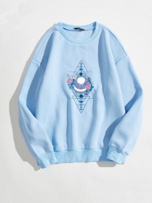 Women's Rose Arrow Pattern Printing Round Neck Long-sleeved Sweatshirt Nihaostyles Clothing Wholesale NSGMX77861