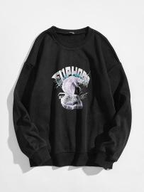 Women's Cobra Letter Pattern Printing Round Neck Long-sleeved Sweatshirt Nihaostyles Clothing Wholesale NSGMX77864