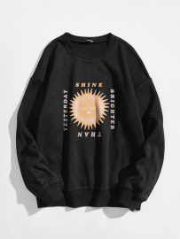Women's Square Thorn Ball Letter Pattern Printing Round Neck Long-sleeved Sweatshirt Nihaostyles Clothing Wholesale NSGMX77865