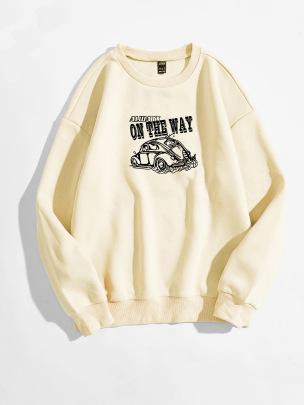 Women's Car Letter Round Neck Sweatshirt Nihaostyles Clothing Wholesale NSGMX77869