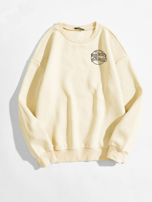 Women's Sketch Earth Letter Pattern Printing Round Neck Long-sleeved Sweatshirt Nihaostyles Clothing Wholesale NSGMX77870