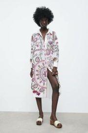 Women's Flower Long Shirt Dress Nihaostyles Clothing Wholesale NSAM77886