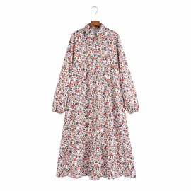 Women's Printed Long-sleeved Dress Nihaostyles Clothing Wholesale NSAM77906