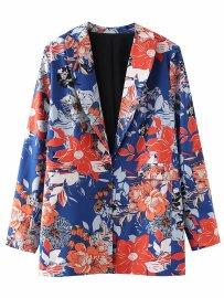 Women's Floral Print Loose Blazer Nihaostyles Clothing Wholesale NSAM77917