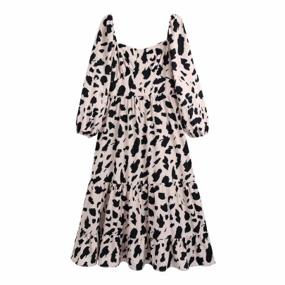Women's Rayon Printed Long-sleeved Dress Nihaostyles Clothing Wholesale NSAM77950