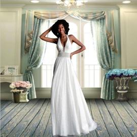 Women's Sleeveless Halter Dress Nihaostyles Wholesale Clothing NSYIS78535