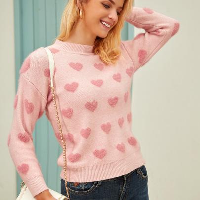 Women's Mink Velvet Pullover Loose Knit Sweater Nihaostyles Clothing Wholesale NSJHK77997
