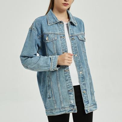 Women's Denim Long Jacket Nihaostyles Wholesale Clothing NSSY78035