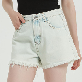 Women's Washed Denim Shorts Nihaostyles Wholesale Clothing NSSY78036