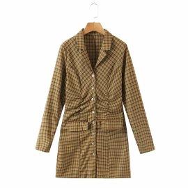 Women's Thin Pleated Waist Dress Nihaostyles Clothing Wholesale NSAM78063