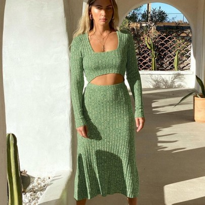 Women's Camouflage Printed Knitted Dress Nihaostyles Clothing Wholesale NSHML78103