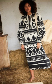 Women's Printing Long-sleeved Dress Nihaostyles Clothing Wholesale NSAM78150