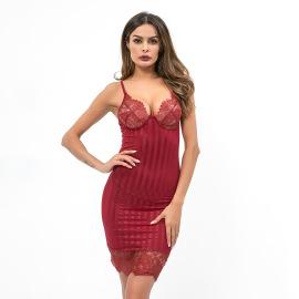 Women's Pajamas Nightdress  Mid-skirt Jumpsuit Nihaostyles Wholesale Clothing NSRBL78164